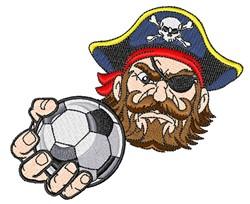 Pirate Soccer Mascot embroidery design