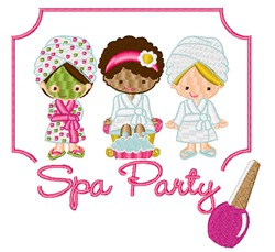 Spa Party embroidery design
