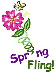 Spring Fling Flower embroidery design