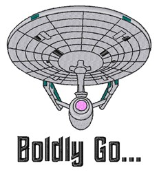 Boldly Go... embroidery design