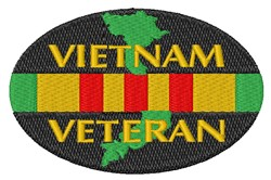Vietnam Veteran Ribbon embroidery design