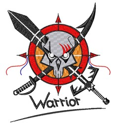 Warrior Shield & Weapon embroidery design
