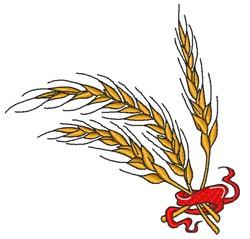 Decorative Wheat embroidery design
