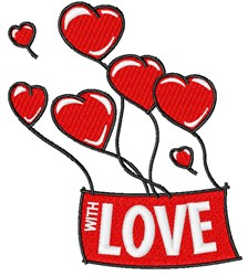With Love Balloons embroidery design