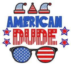 American Dude embroidery design