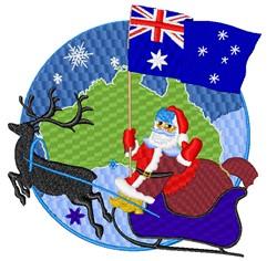 Australian Santa Claus embroidery design