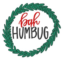 Bah Humbug Wreath embroidery design