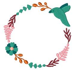 Hummingbird Wreath embroidery design