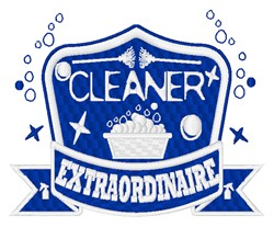 Cleaner Extraordinaire embroidery design