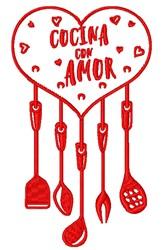 Cocina Con Amor embroidery design