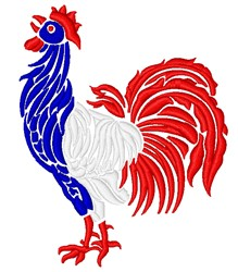French Rooster embroidery design