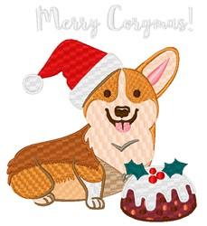Merry Corgmas! embroidery design