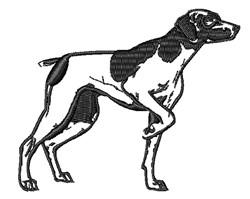 Pointer Dog Outline embroidery design