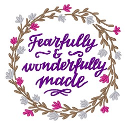 Fearfully Made Floral Wreath embroidery design