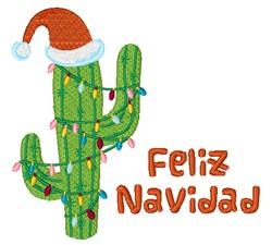Feliz Navidad Ccactus embroidery design