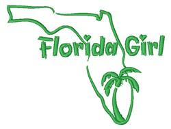 Florida Girl Outline embroidery design