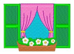Window Flower Box embroidery design