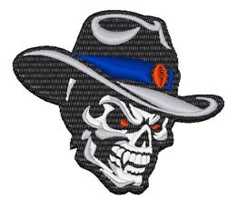 Cowboy Vampire Skull embroidery design