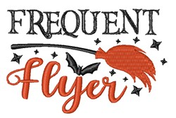 Frequent Flyer Broom embroidery design