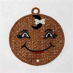FSL Gingerbread Dangler embroidery design