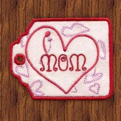 Mom Gift Card Holder embroidery design