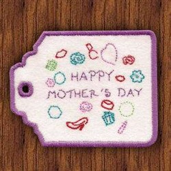 Mothers Day Card Holder embroidery design