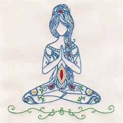 Yoga Woman embroidery design