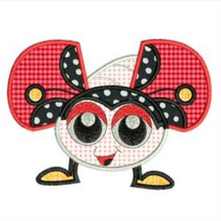 Applique Ladybug embroidery design