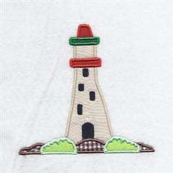 Applique Lighthouse embroidery design