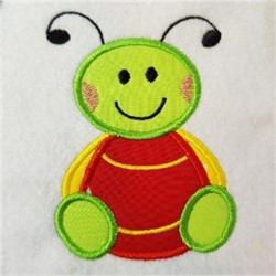 Applique Bug embroidery design