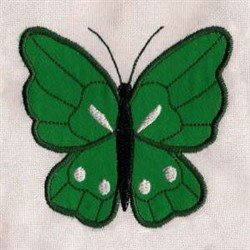 Applique Green Butterfly embroidery design