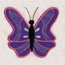 Applique Purple Butterfly embroidery design