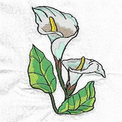Cala Lily embroidery design