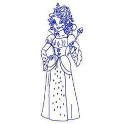 Bluework Princess embroidery design