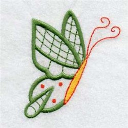 Profile Butterfly embroidery design