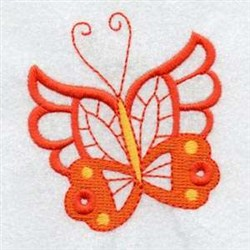 Orange Butterfly embroidery design