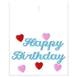 Happy Birthday Candy Bag embroidery design