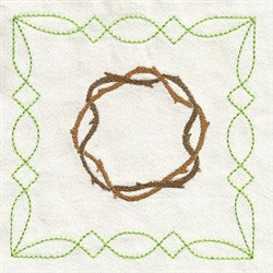Crown Of Thorns Square embroidery design