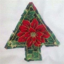 Rag Quilt Tree embroidery design