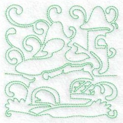 Fairy Houses embroidery design