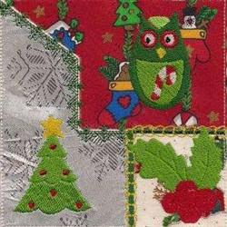 Christmas Crazy Quilt embroidery design