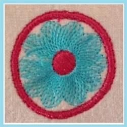 Round Flower embroidery design