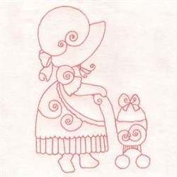 Easter Sunbonnet Girl embroidery design