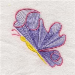 Swirly Butterflies embroidery design