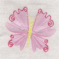 Red Butterflies embroidery design