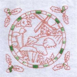 Fall Windmill embroidery design