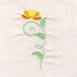 Floral Art Nouveau embroidery design