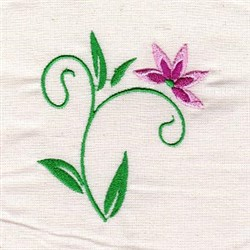 Floral Curl embroidery design