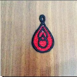 FSL Blood Drop embroidery design