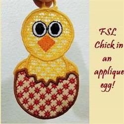 FSL Chick Ornament embroidery design